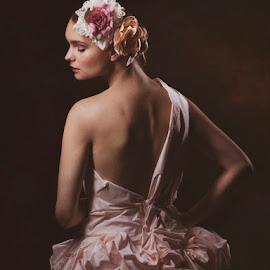 Beauty in her Eyes by Petros Sofikitis - Wedding Bride ( fashion, woman, wedding, wedding dress, pink )