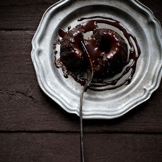 Mini Dark Chocolate Chambord Bundt Cakes