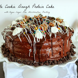 Chocolate Cookie Dough Protein Cake