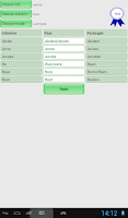 Screenshot of English Irregular Verbs