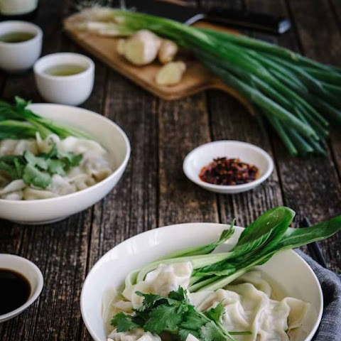 Pork, Ginger and Spring Onion Dumpling Soup