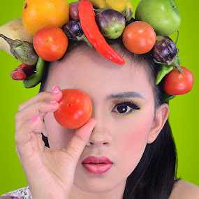 fruits by Aji Prasetyo - People Portraits of Women