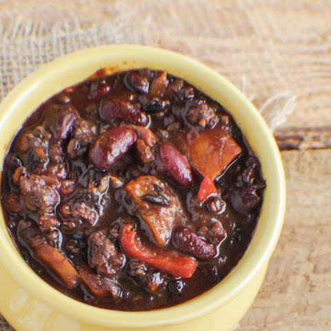 Black Rice Hamburger soup