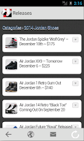 Screenshot of Jordans Out - Releases & Quiz