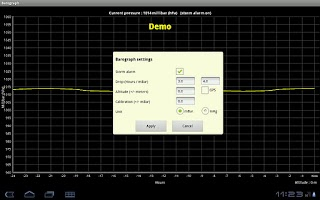 Screenshot of Barograph