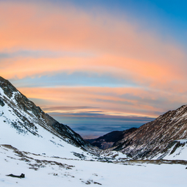 Balea Lake by Stirbu Eduard Aurel - Landscapes Mountains & Hills ( mountains, sky, sunset, snow )