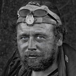 Humber Bridge Hobo Hull by Tim Bartlett - People Portraits of Men ( england, humber bridge hobo, hull, united kigndom,  )