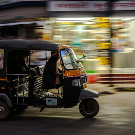 The Rickshaw by Georgia Darlow - Transportation Other ( transport, speed, rickshaw, india, kerala )