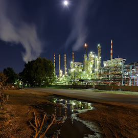 Reflections of an Oil Refinery by Bill Peppas - Buildings & Architecture Other Exteriors