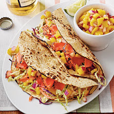 Sweet-and-Spicy Salmon Tacos
