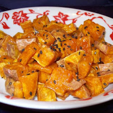 Fried Sweet Potatoes With Honey