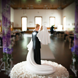 Happily Ever After by Jeff Gordon - Wedding Other ( cake, purple, wedding, indoors, top )