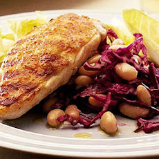 Red Cabbage Slaw With Griddled Chicken