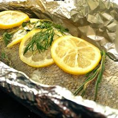 Steamed Walleye (Pickerel) on the Grill