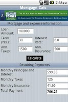 Screenshot of Mortgage Calc
