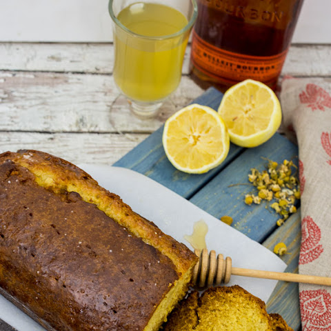 Honey Chamomile Hot Toddy Tea Cake