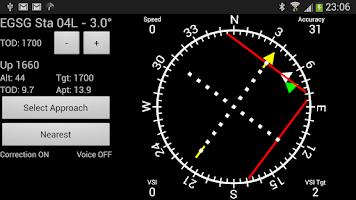 Screenshot of GPS ILS