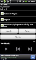 Screenshot of Music Folder Player