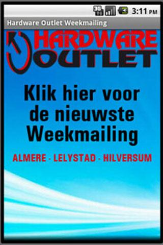 Hardware Outlet Weekmailing