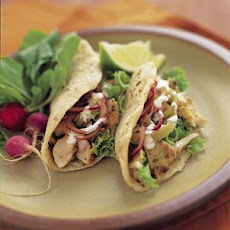 Fish Tacos with Pickled Onions and Chilies