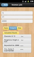 Screenshot of Colebrook White Calculator
