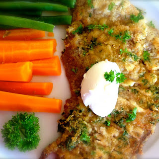 Almond and Herb Crusted Schnitzel