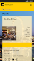 Screenshot of 2014 AA Hotel Guide