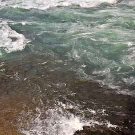 Waves by Timothy Graves - Abstract Patterns ( abstract, water, waves, colors, river )