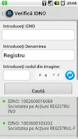 Screenshot of Registru