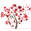 Valentine tree icon