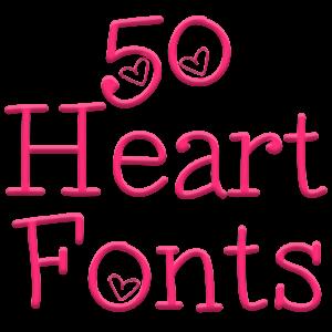 Fonts for FlipFo...A Alphabet Design In Heart