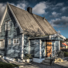 Mysen, Norway 007 by IP Maesstro - Buildings & Architecture Homes ( clouds, home, sky, hdr, house, maesstro, mysen, norway )
