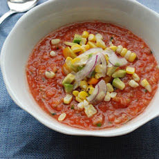 Gazpacho with Peaches and Jalapeño