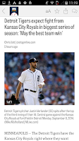 Screenshot of MLive.com: Detroit Tigers News