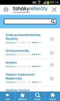Screenshot of Ťaháky-referáty