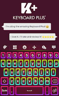 Colored Keyboard Theme - screenshot