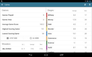 Screenshot of 7 Wonders Score Sheet