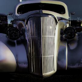 Ghostly Grill by Becky McGuire - Transportation Automobiles ( car, cool, 50's, old, vintage, automobile, art, digital, havasu, tvlgoddess, hotrod, arizona, auto, streetrod, classic,  )