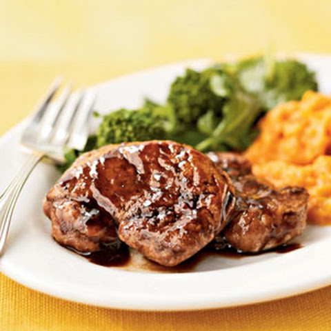 Maple-Balsamic-Glazed Pork Medallions