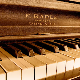 Great Grandpas Piano by Shelby Taylor - Artistic Objects Musical Instruments ( piano, upright piano, keys, radle, piano keys, antique )