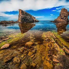 Sea landscape by MIhail Syarov - Landscapes Waterscapes ( clouds, sky, blue, sea, rock )