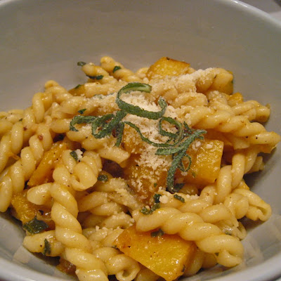 Pasta with Caramelized Butternut Squash and Fresh Herbs