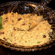 Mint Couscous With Raisins and Almonds