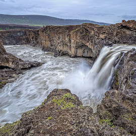 Aldeyjarfoss-2 by Palmi Vilhjalmsson - Landscapes Waterscapes