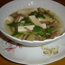 Tofu And Pak Choi Soup
