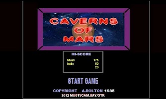 Screenshot of Caverns of Mars