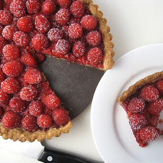 Raspberry Tart with Coconut Crust