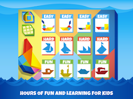 Screenshot of Kids Tangram Puzzles: Ships