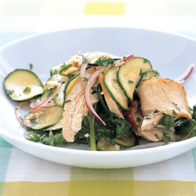 Zucchini and Chicken Salad