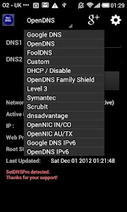 Set DNS Screenshot